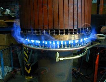 风电机组滚轮焊接与加热